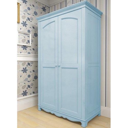 Шкаф двустворчатый D4 Канон голубой