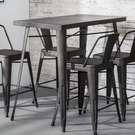 Стол барный 3613 / 44G серый Zijlstra