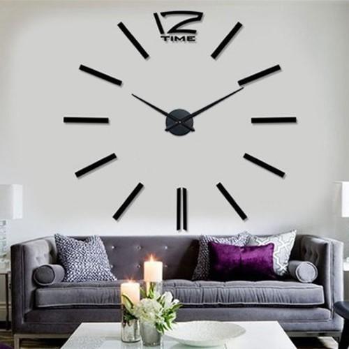 Часы настенные S003-B Ø 70-130 см Clock черные
