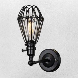Светильник настенный 707W130-1 BK черный-09 Thexata