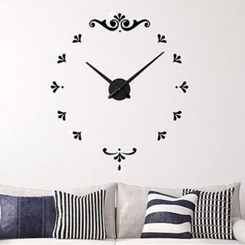 Часы настенные 3M012-D d 70-130 см 1 черные Clok