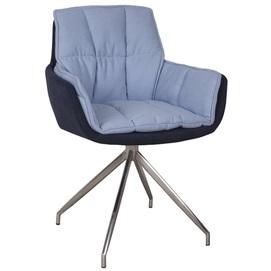 Кресло поворотное Palma голубое Kolin