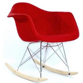 Кресло качалка Leon Soft вискоза красное Thexata 2019
