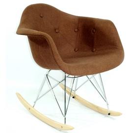 Кресло качалка Leon Soft вискоза 8499 коричневое К-10 Thexata 2019