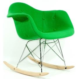 Кресло качалка Leon Soft 8495 шерсть зеленое Thexata 2019