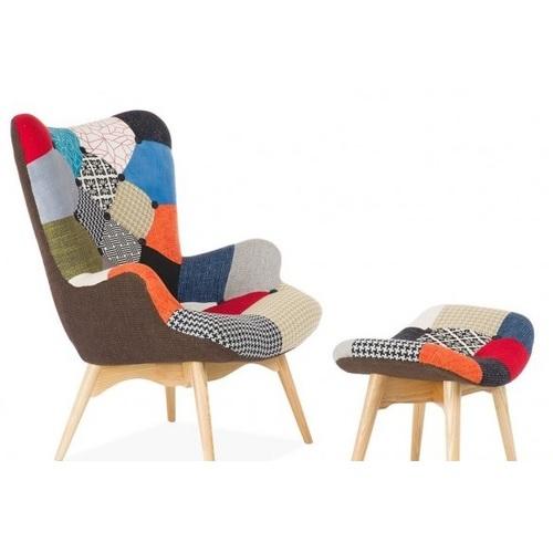 Кресло Флорино с табуреткой цветное Mebelmodern 2019