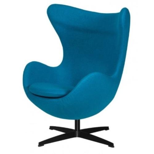 Кресло IBIZA голубое ноги черные Frost 2019