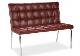 Скамья Зеро-KS (краш.сталь) D'LineStyle коричневая