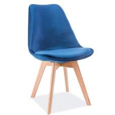 Стул Dior Velvet синий ноги дуб Signal 2019