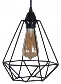 Лампа подвесная Diamond S черная MELBI