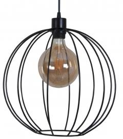Лампа подвесная Dolio L черная MELBI
