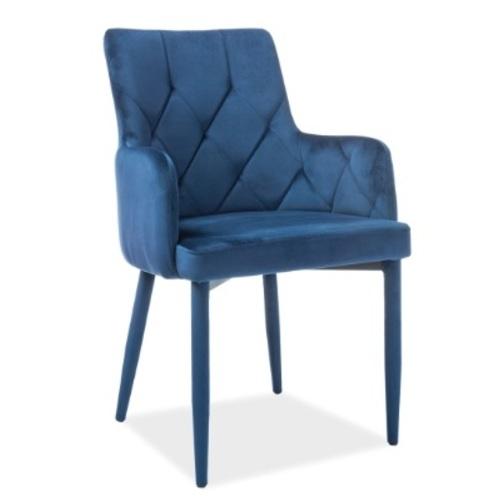 Кресло Ricardo Velvet синее Signal 2019