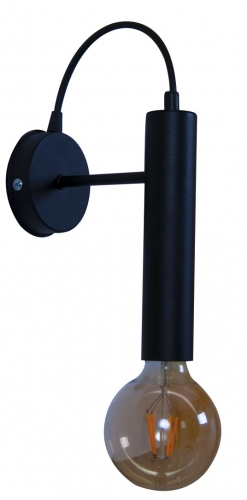 Бра цоколь Tubo mini SC черное MELBI
