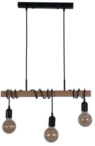 Люстра Timber 3L коричневая MELBI
