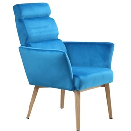 Кресло 02436-35 голубое Sit Moebel 2019