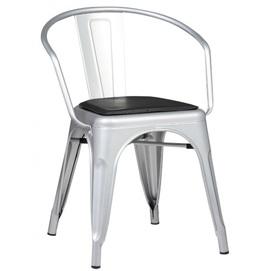 Кресло Tolix MC005 серебро OUTDOOR
