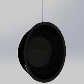 Кресло подвесное Swing черное SKM