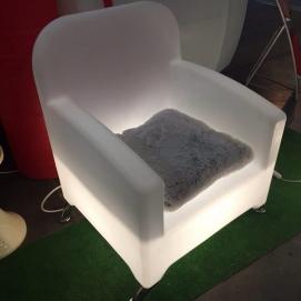 Кресло с подсветкой Garden белое SKM