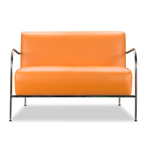Диван двойка Мальта-2-KS (краш. сталь) оранжевый D'LineStyle