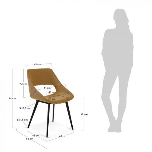 Кресло Hest CC1149PK81 желтое Laforma 2019