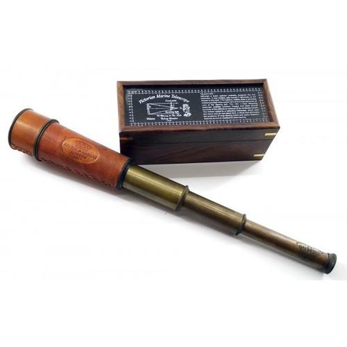 Подзорная труба в деревянном футляре, 19х7,5х7,5см ( 32257)