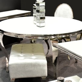 Стол обеденный 120cm TH306-6 белый Glamoorzee