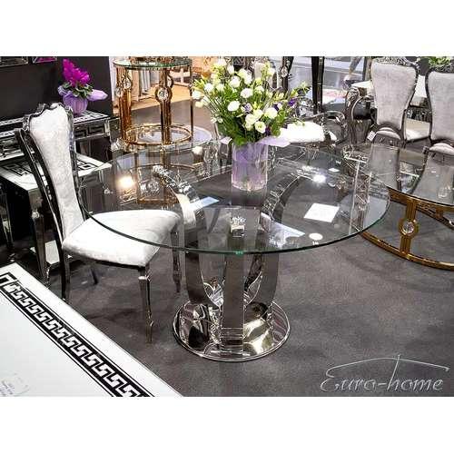 Стол обеденный 130cm TH704 серебро Glamoorzee
