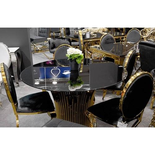 Стол обеденный 130cm TH521 черный+золото Glamoorzee