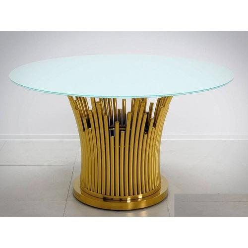 Стол обеденный 130cm TH521 золото+белый Glamoorzee