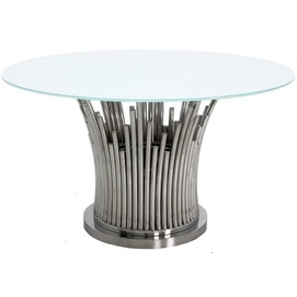 Стол обеденный 130cm TH521 серебро+белый Glamoorzee