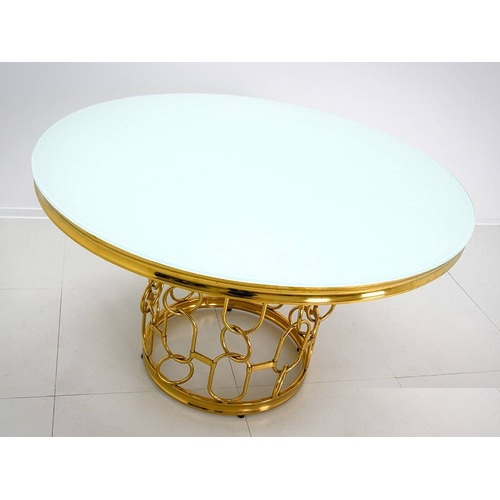 Стол обеденный 130cm TH522-6 золото+белый Glamoorzee