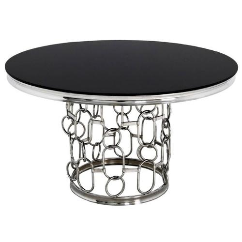 Стол обеденный 130cm TH522-6 черный+серебро Glamoorzee