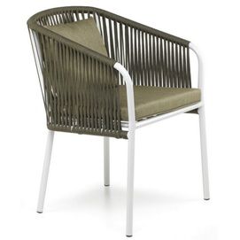 Кресло Твист зеленое+белый каркас Pradex
