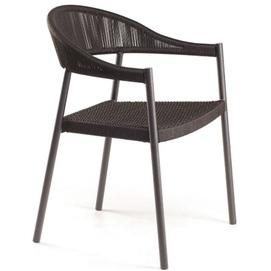 Кресло Клверер коричневое сидение плетение Pradex