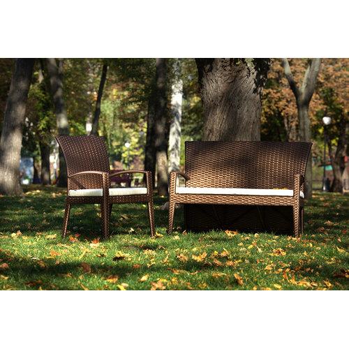 Диван двойка Калифорния коричневый Pradex