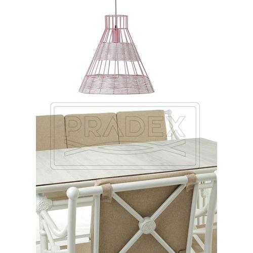 Лампа подвесная Рио 37 бежевая Pradex