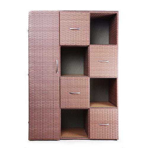 Шкаф Лего -М коричневый Pradex