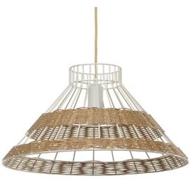 Лампа подвесная Рио 26 бежевая Pradex