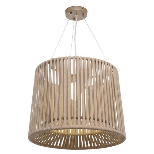 Лампа подвесная Твист бежевая Pradex