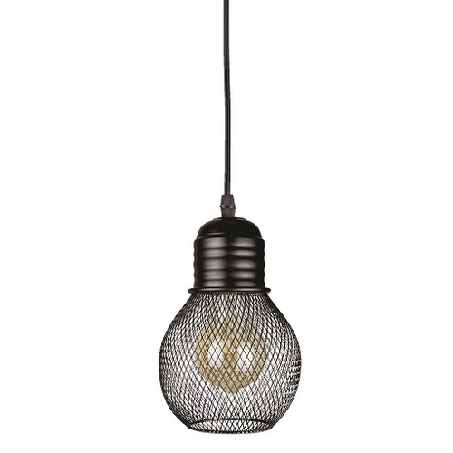 Лампа подвесная 907004F-1 BK черная Thexata 2019