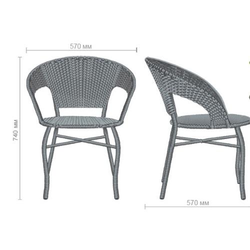Кресло Catalina ротанг серый 521808 Famm 2019