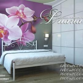 Кровать Диана 160*200 см белая Металл Дизайн