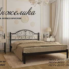 Кровать Анжелика 140*190/200 черная Металл Дизайн