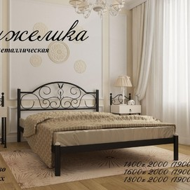 Кровать Анжелика 160*190/200 черная Металл Дизайн