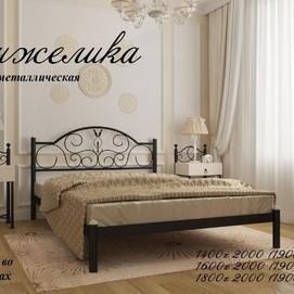 Кровать Анжелика 180*190/200 черная Металл Дизайн