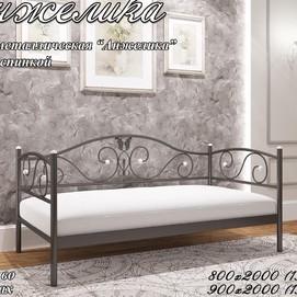 Кровать Анжелика мини 80*190/200 см черная Металл Дизайн