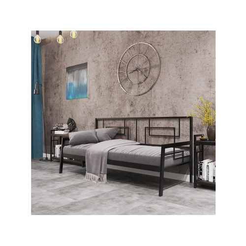 Кровать Квадро софа 80*190/200 см черная Металл Дизайн