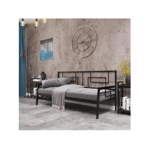 Кровать Квадро софа 90*190/200 см черная Металл Дизайн