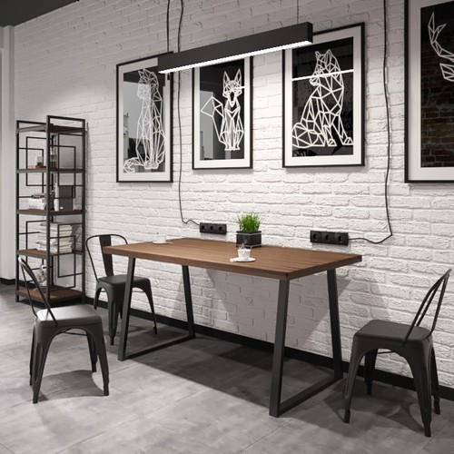 Стол обеденный Бинго Оверлайт натуральный Металл Дизайн