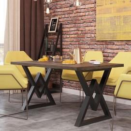 Стол обеденный Астон натуральный  Металл Дизайн